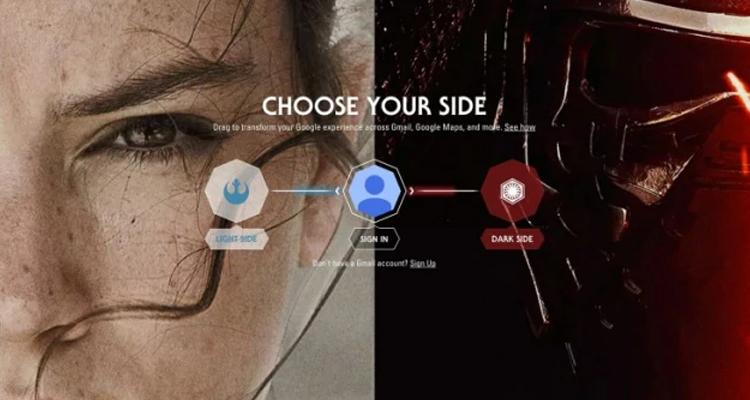 GOOGLE CHROME SI TRASFORMA IN STAR WARS…E VOI DA CHE PARTE STATE?